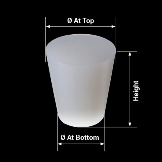 measures silicone barrel bung conical model