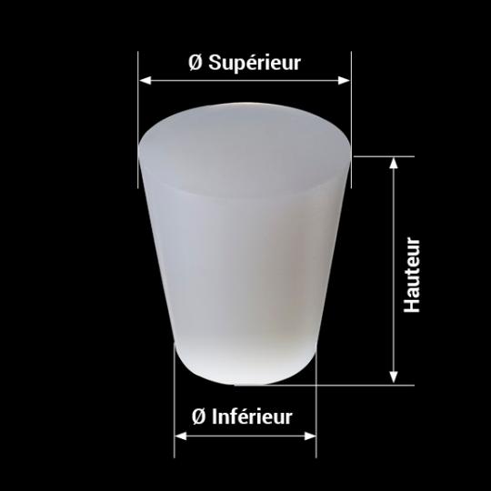 measures bonde silicone modèle conique