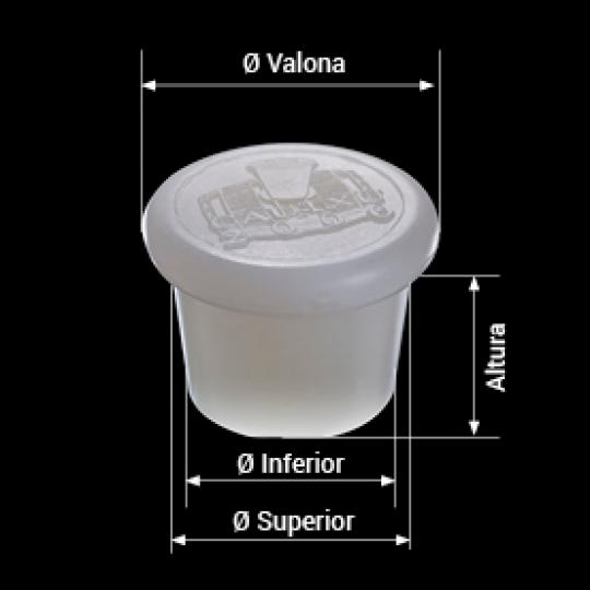 medidas tapón de silicona para barricas modelo con logotipo