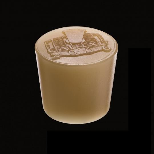 tapón de silicona para barricas modelo cónico con logotipo de color marrón