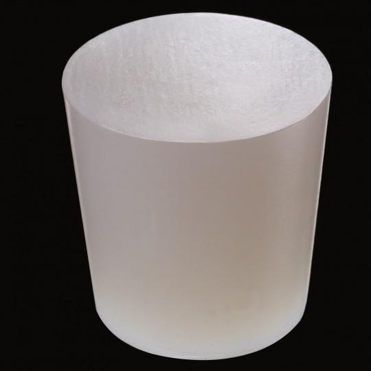 tapón de silicona para barricas modelo cónico de color blanco