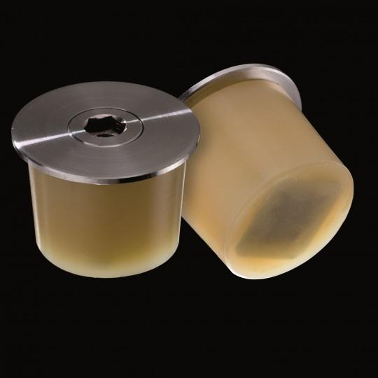 tapón de silicona para barricas modelo mecanismo con platina metálica de color marrón