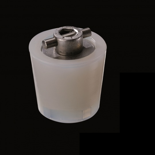 silicone barrel bung mechanism in cross racking model in white color