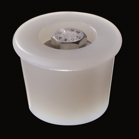 silicone barrel bung mechanism hexagonal model in white color