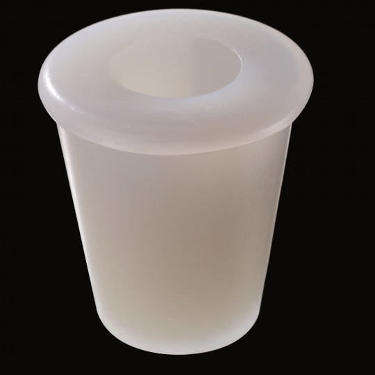 silicone barrel bung universal with hole on top model in white color