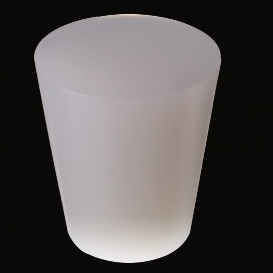 silicone barrel bung universal solid type model in white color