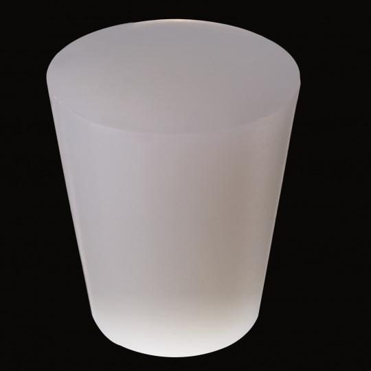 tapón de silicona para barricas modelo universal macizo de color blanco
