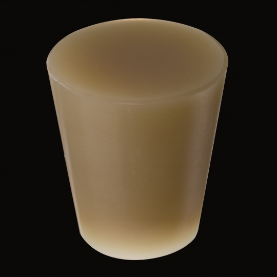 silicone barrel bung universal solid type model in brown color
