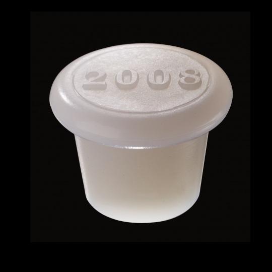 tapón de silicona para barricas modelo zeta con añada 2017 de color blanco
