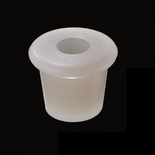tapón de silicona para barricas modelo zeta falsete de color blanco