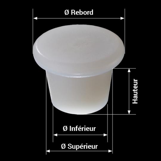 mesures bonde silicone modèle zeta