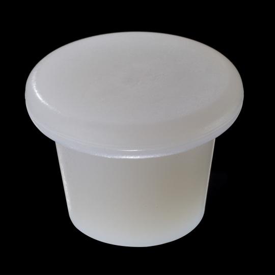 tapón de silicona para barricas modelo zeta de color blanco